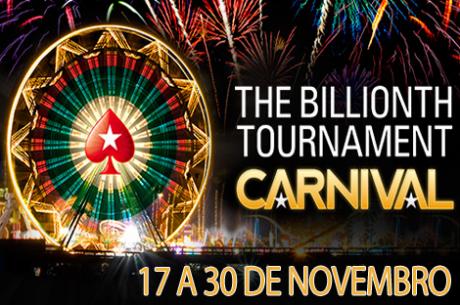 Até 30 de Novembro: Carnaval do Torneio Mil Milhões na PokerStars