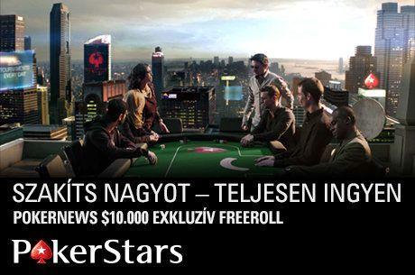 Vedd ki a részed exkluzív PokerStars freerollunkon $10.000-os nyereményalapjából!