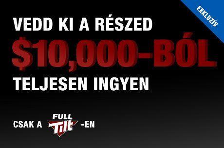 Még 3 napig kvalifikálhatod magad $10.000-os Full Tilt Freerollunkra