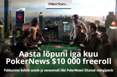 Veel on jäänud viimased päevad kvalifitseerumaks detsembri PokerNews $10K freerollile