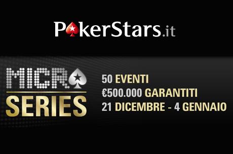 A dicembre tornano le Micro Series di PokerStars.it!