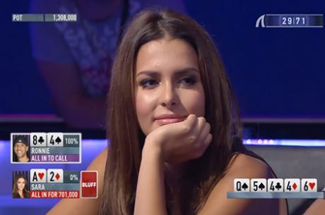 Shark Cage PokerStars: Miss Finlândia Faz Ronnie Bardah Foldar Trio