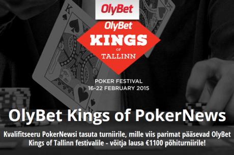 PokerNewsi tasuta turniirilt pääseb viis mängijat OlyBet Kings of Tallinn festivalile