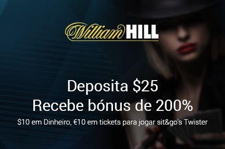 Pacote de Boas Vindas William Hill Poker: $10 Grátis em Dinheiro e €10 Twister Tokens