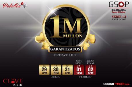 ¡Guadalajara Series of Poker 1.1 por iniciar actividades mañana en Pabellón!
