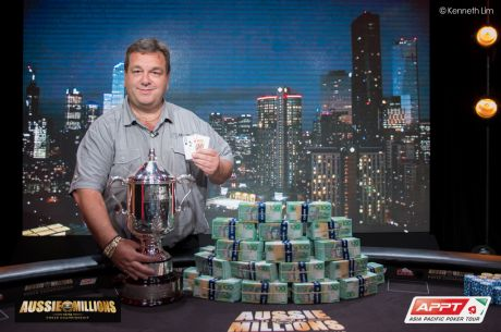 Manny Stavropoulos Wins the 2015 Aussie Millions Main Event for AU$1,385,500
