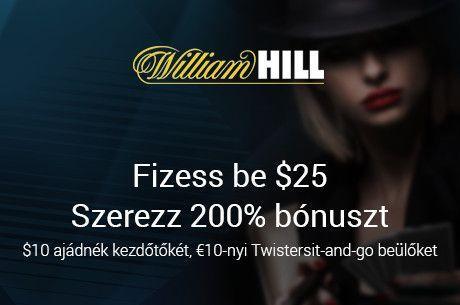 Ajándék kezdőtőke minden új befizetőnek a William Hill-en!