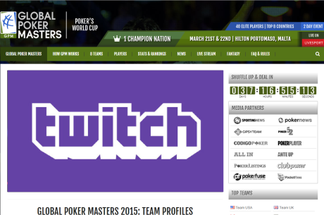 Global Poker Masters на главната страница на Twitch (300 милиона...