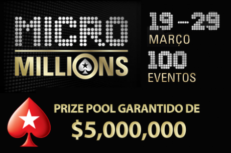 $20 MicroMillions PokernewsPT Challenge - Quem vai ser o rei do MicroMillions X?