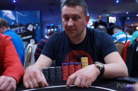 Vladimir Luledžija Chip Leader Dana 1a Poker Fest Lav Main Eventa