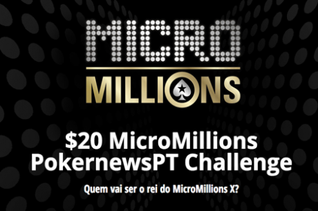 SimãoGomes Lidera $20 MicroMillions PokernewsPT Challenge