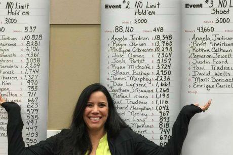 Šťastná to žena: Angela Radich Jordison vyhrála 3 turnaje v řadě za $37.800