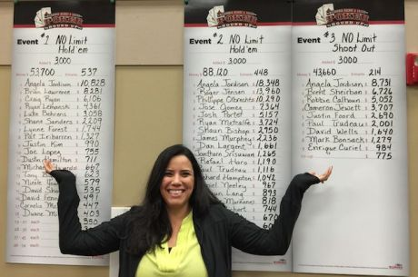 Angela Jordison Wins 3 Consecutive Events in 3 Days During 2015 Spring Poker Round Up