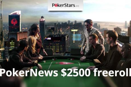 Laupäeval toimub aprilli PokerNews $2500 freerolli kordusturniir