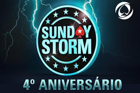 4º Aniversário Sunday Storm $1,000,000 Prize Pool Garantido (19 Abril)