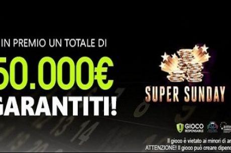 Sisal Presenta il Super Sunday: Montepremi da 50.000€