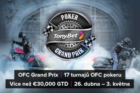 Dnes začíná na herně Tonybet Poker OFC Grand Prix