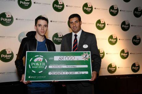 Ezequiel Kleinman ganó la quinta fecha del Conrad Poker Tour