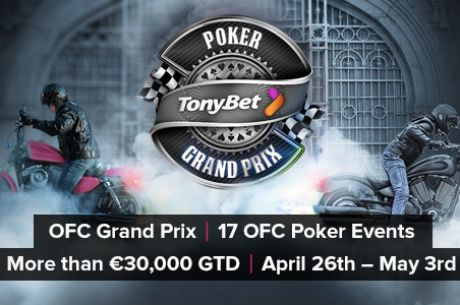 """drinu92"" vyhrál OFC Grand Prix Main Event na TonyBet Pokeru za €2.806"