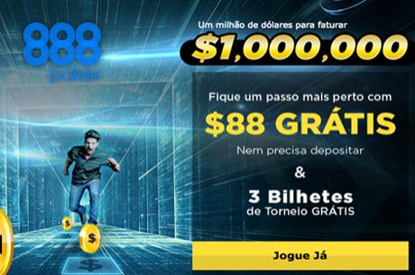 $1,000,000 em Jogo na Million Dollar Money Grab da 888poker