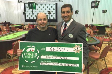 Roberto Piazza, campeón de la sexta fecha del Conrad Poker Tour