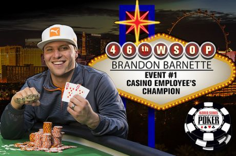 WSOP 2015: Brandon Barnette Vence Evento #1 Casino Employees NLH ($75,704)