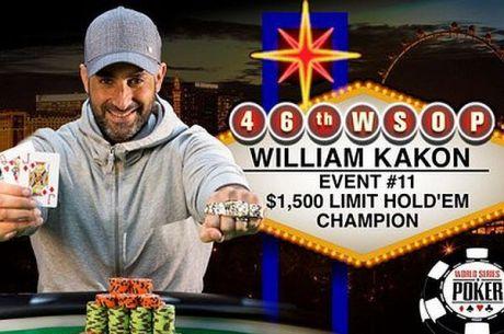 WSOP 2015:  William Kakon Pobednik Prvog Ovogodišnjeg Limit Turnira