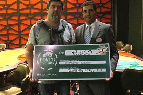 Sebastián Stratta fue el campeón de la séptima etapa del Conrad Poker Tour