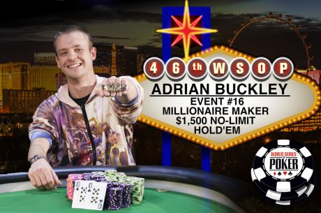 "Adrian ""Pile Driver"" Buckley Comes Back from Dead Last to Take Down Millionaire Maker"