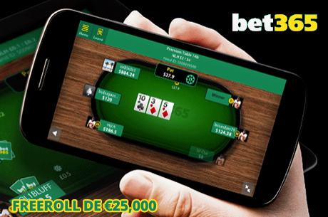 Freerolls de Depositante na Bet365 em Junho - €100,000 em Jogo