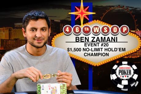 Ben Zamani recupera la sonrisa tras ganar su primer brazalete de las WSOP