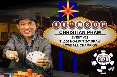 Christian Pham Vence Evento #23 - $1,500 No-Limit 2-7 Draw ($81,314)