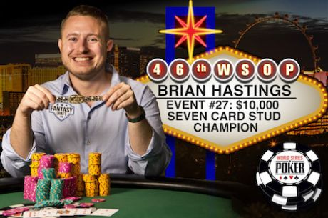 Brian Hastings Vence Evento #27: $10K Seven Card Stud Championship ($239,518)