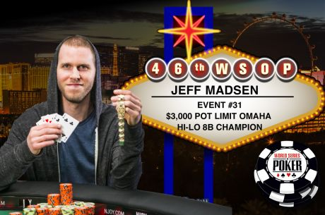 Four Score: Madsen Takes Down Event #31 $3,000 Pot-Limit Omaha Hi-Lo for 4th Bracelet