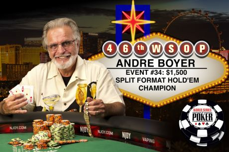 1996 Main Event Final Table Participant Andre Boyer Wins Second Bracelet