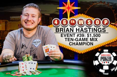 Unstoppable Hastings Gets Second Bracelet of 2015