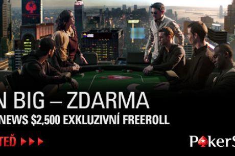 Freeroll o $2.5K pro hráče PokerNews na PokerStars již brzy!