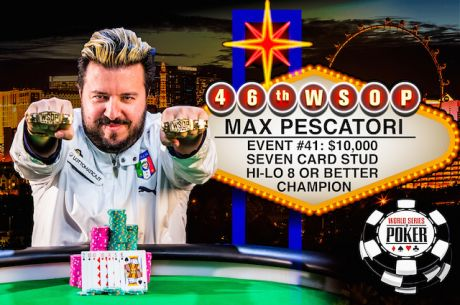 "More Loot for the ""Italian Pirate"": Max Pescatori Wins Second Bracelet of the Summer"