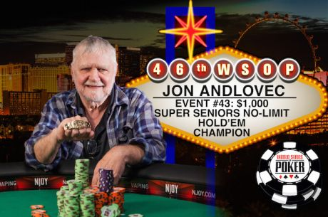 2015 World Series of Poker: Jon Andlovec gewinnt Super Seniors Event