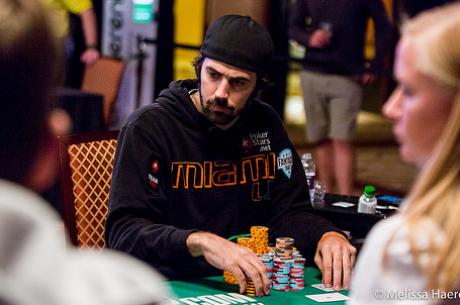 Jason Mercier is a The Poker Players' Championship döntő asztalán, Baker vezet