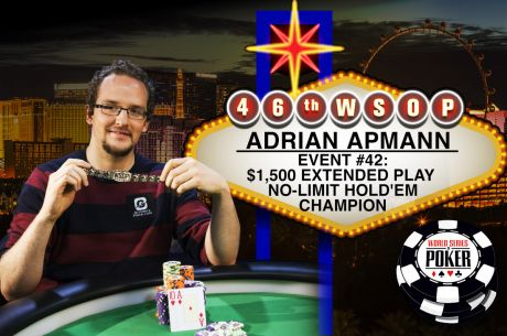 2015 World Series of Poker: Adrian Apmann gewinnt Event 42