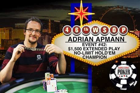 2015 WSOP Day 29: Adrian Apmann Wins Extended Play; Gylbert Drolet on Stud Final Table