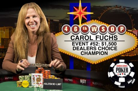 Hollywood's Carol Fuchs Captures Dealer's Choice Bracelet: Denies Mizrachi Repeat