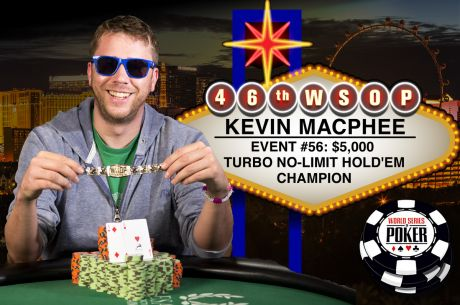 Kevin MacPhee Books His First WSOP Bracelet Win in the $5,000 Turbo for $490,800