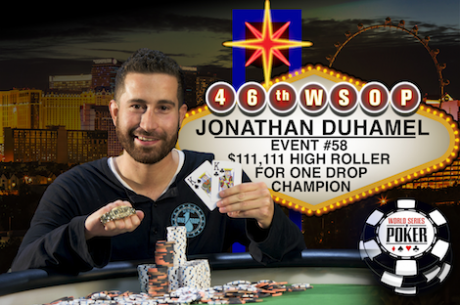 Jonathan Duhamel Vence $111,111 High Roller for ONE DROP ($3,989,985); Brito fora dos Prémios