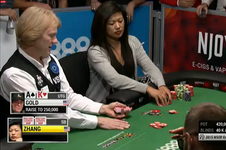 ÉLŐ VIDEÓ: Haixia Zhang és Jamie Gold is a WSOP $1,5K NLH döntő asztalán (autoplay)