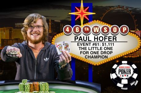 Paul Hoefer Venceu Evento #61: $1,111 The Little One for One Drop ($645,969)