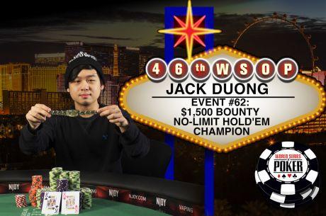 2015 World Series of Poker: Jack Duong siegt bei Event 62