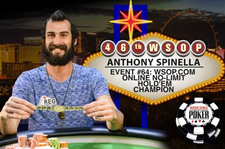 Anthony Spinella Venceu Primeira Bracelete Online da História das WSOP ($197,743)