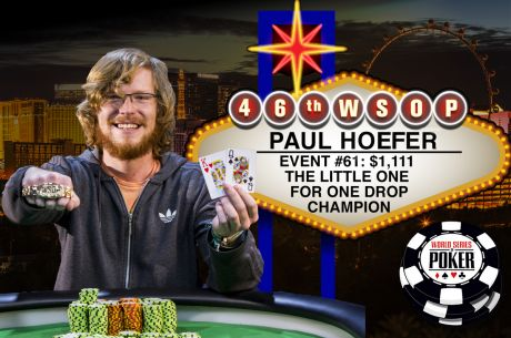 2015 WSOP Day 38: Dan Idema Goes for Two in 2015; Paul Hoefer Scores One for One Drop